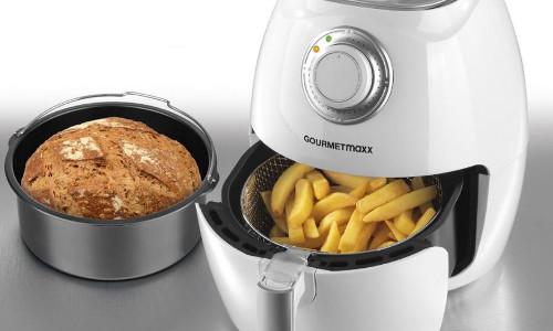 GOURMETmaxx Heissluft Fritteuse mit Brotbackkorb