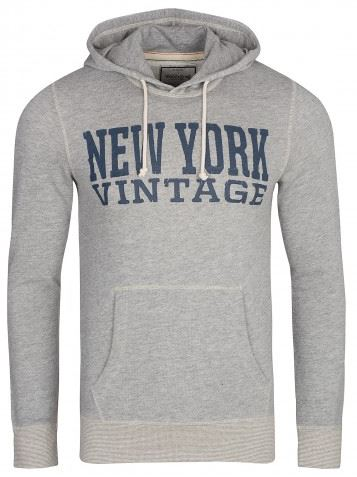 JACK and JONES Recycle TF Cyril Sweat Hood Herren Kapuzen Pullover Grau