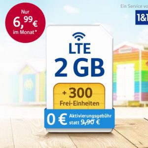 o2: 1&1 Flexi-Tarife mit bis zu 4GB LTE ab nur 6,99€ im Monat