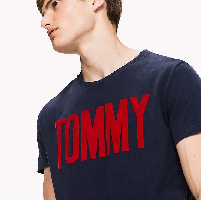 Rundhals T Shirt aus Baumwoll Jersey   TommyDE