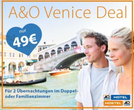 Venedig Mestre A und O Hotelgutschein x