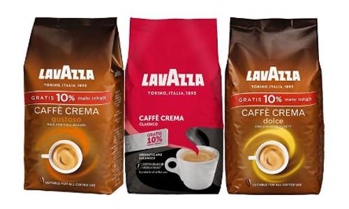Verschiedene Lavazza Kaffeebohnen
