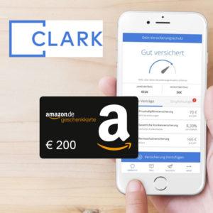 Bis zu 200€ Amazon.de Gutscheine für die Clark Versicherungs-App