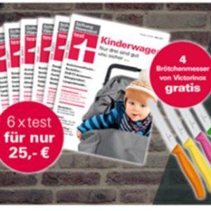 6x Stiftung Warentest + Finanztest Special + 4 Victorinox Messer