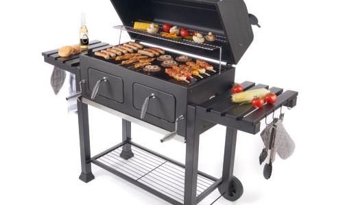 Bester Holzkohlegrillwagen : El fuego xxl holzkohle grillwagen mit großer grillfläche mytopdeals