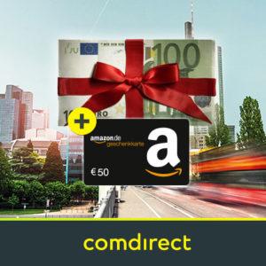 [Letzte Chance] Kostenloses comdirect Depot mit bis zu 150€ Prämie (schufa-frei)