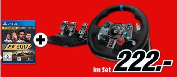 logitech driving force rennlenkrad f1 2017 pc ps4 und. Black Bedroom Furniture Sets. Home Design Ideas