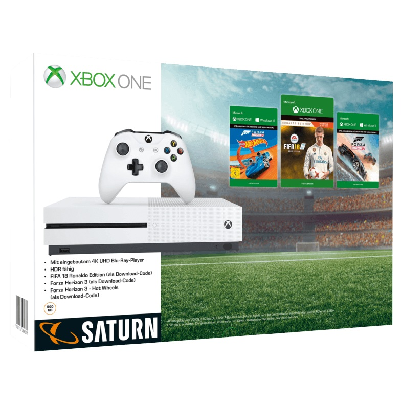 xbox one s konsole mit fifa 18 forza horizon forza 7 minecraft mehr dlcs mytopdeals. Black Bedroom Furniture Sets. Home Design Ideas