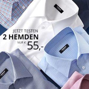 Walbusch: zwei bügelfreie Hemden (versch. Farben + Muster)