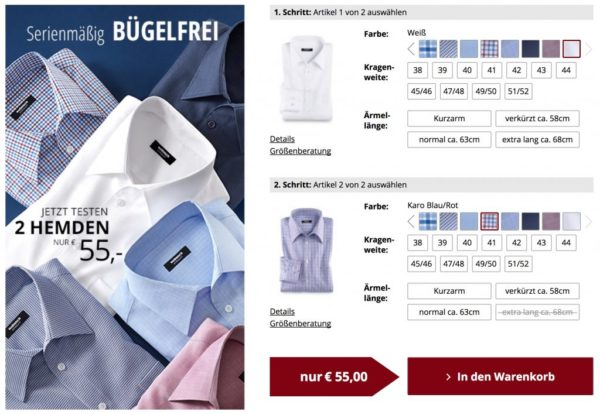am besten billig auf großhandel ausgereifte Technologien Walbusch: zwei bügelfreie Hemden (versch. Farben + Muster ...