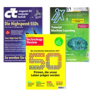 Gratis: Bis zu je (!) drei Ausgaben der c't, iX & TR vom Heise-Verlag
