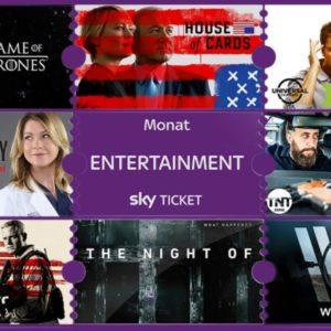 [TOP] 2 Monate Sky Entertainment Ticket (mit vielen Serien) für unter 2€