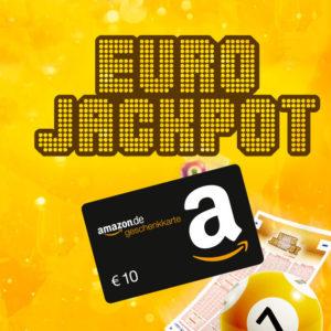 [Knaller] 6x Eurojackpot für 4€ + 10€ Amazon-Gutschein + Chance auf 41 Mio Euro
