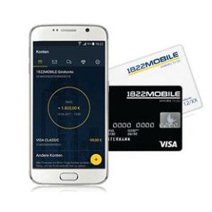 1822Mobile Girokonto: Mit 50€ Prämie + kostenloser Kreditkarte