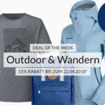 15% Gutschein auf Outdoor- & Wander-Artikel, z.B. The North Face Windbreaker