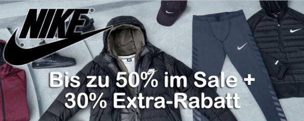 NIKE End of Season Sale mit bis zu 50% Rabatt + 30