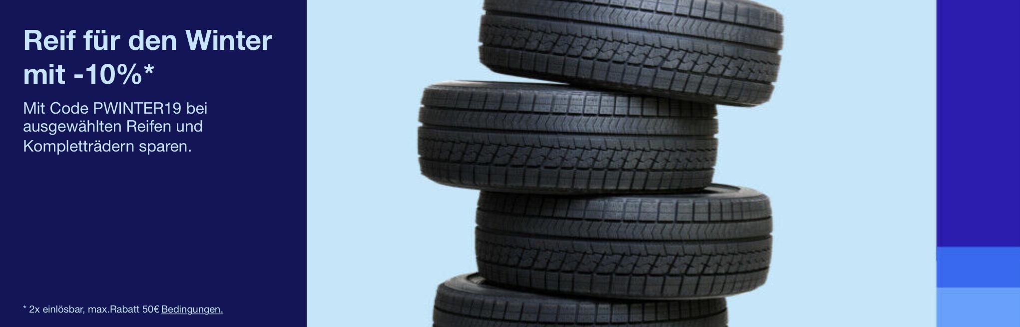 Tipp ❄️ 8% Gutschein auf alle (Winter-) Reifen & Kompletträder