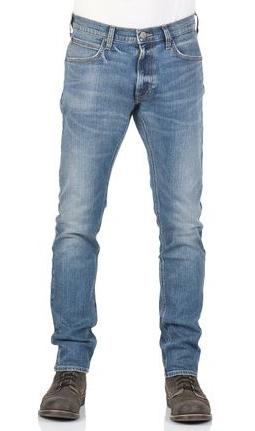 Lee Herren Jeans Luke Slim Tapered Blau Dark Trace After Hours Rinse Night Worn Dark Used Deep Blue Worn Indigo
