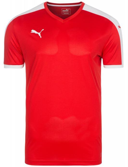 PUMA T Shirt Rot Weiss