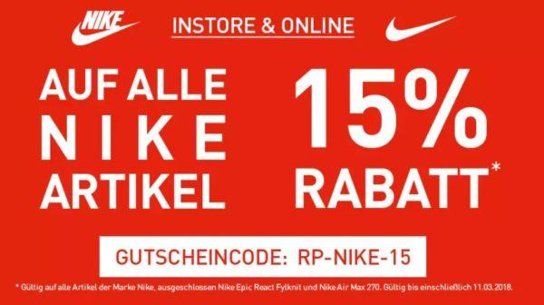 personalizadas precio atractivo nuevo autentico 15% Gutschein auf alle NIKE Artikel, z.B. Free Commuter Sneaker ...