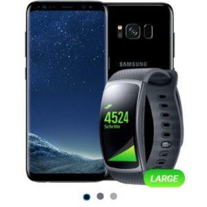 D1/D2-Netz: Allnet-Flat mit 1GB + Samsung Galaxy S8 + Gear Fit 2 für 19,99€ mtl.
