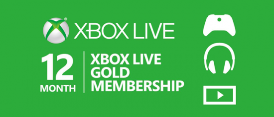 xbox live 12 month membership banner