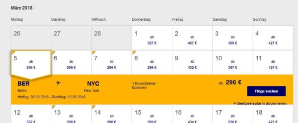 Lufthansa Flug nach Nordamerika ab 296 Euro buchen
