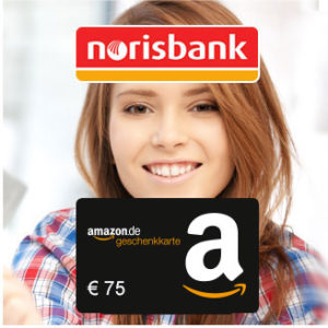 norisbank Girokonto (inkl. Kreditkarte) + 75€ Amazon.de-Gutschein