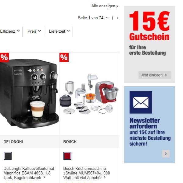 15 Euro Rabatt bei QUELLE bestellen