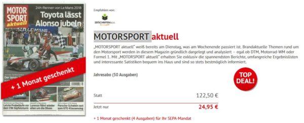 Motorsport Abo 24 95 Euro