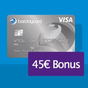 45€ Bonus-Prämie für die Barclaycard New Visa (dauerhaft beitragsfrei)