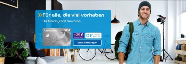 barclaycard new visa startguthaben