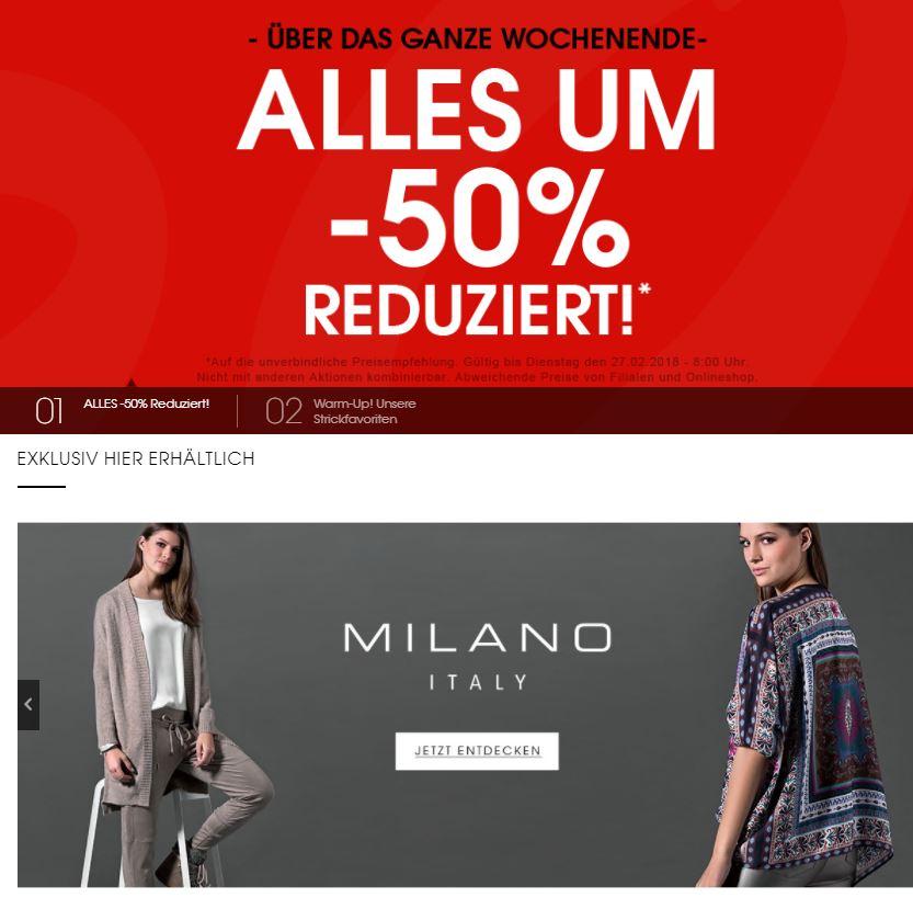 designermode.com Alles um 50 Prozent reduziert