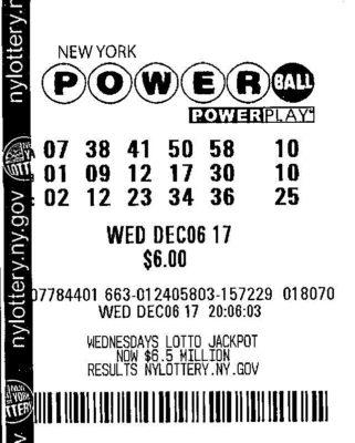 thelotter powerball lotto schein