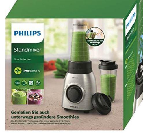 PHILIPS Viva Collection Standmixer HR3551 00 Smoothie Mixer Blender 700W 600ml