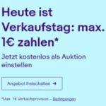 Nur heute: Max. 1€ Verkaufsgebühr bei Ebay
