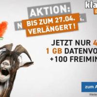 D1 Klarmobil Smart Flat 4 99 Euro monatlich mit 24 Euro Amazon Gutschein 1