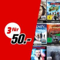 Drei 4K UHD Blu rays 50 Euro Media Markt