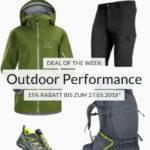15% Gutschein auf Outdoor- & Wander-Artikel, z.B. Meru Herren Softshelljacke
