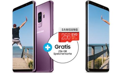 GRATIS 256GB microSD Karte Evo Plus   zu jedem Samsung Galaxy S9 S9 Plus