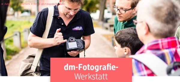 Gratis dm Fotografie Werkstatt deutschlandweit