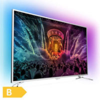 Philips 123cm 49 Zoll Ultra HD 4K LED Fernseher 3 fach Ambilight Android DVB T2