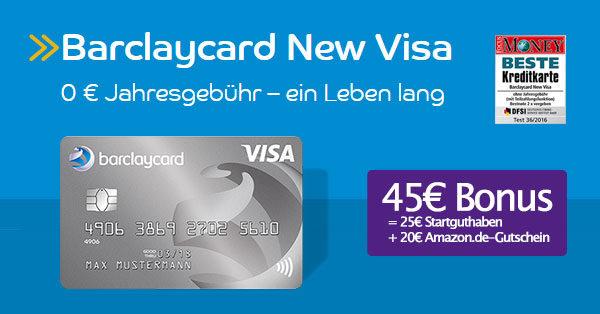 barclaycard new visa bonus deal 45 flat