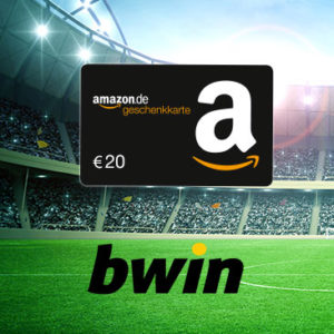 [Knaller] bwin: 20€ Amazon-Gutschein für 10€ Einsatz (+ 100% Bonus für Neukunden)