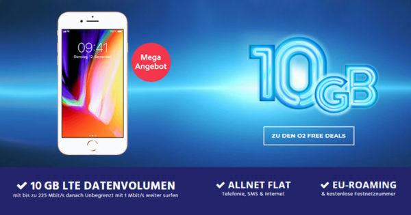 o2 free m allnet flat mit 10gb lte apple iphone 8 110. Black Bedroom Furniture Sets. Home Design Ideas