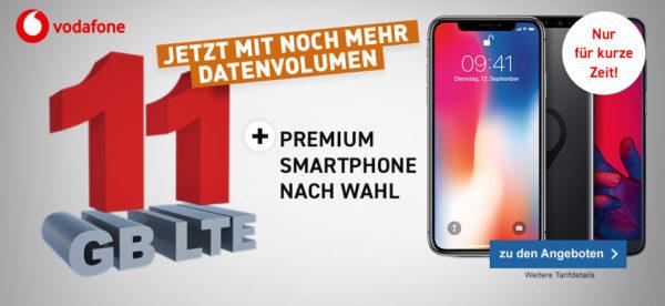 11GB Datenvolumen mit Premium Smartphone 1