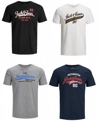 2018 08 01 09 59 31 4er Pack Jack Jones Herren T Shirt JJELOGO TEE SS CREW NECK TWO COLOR kaufen