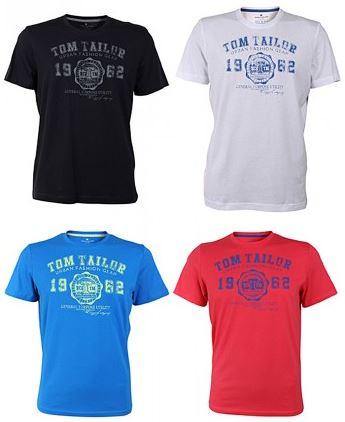 2018 08 01 10 00 23 Tom Tailor Herren Rundhals T Shirt Logo Tee Basic verschiedene Farben