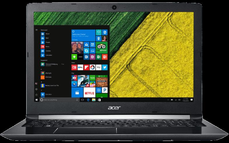 ACER Aspire 5 Notebook mit 15.6 Zoll Display Core i3 Prozessor 4 GB RAM 1 TB HDD GeForce 940MX Schwarz 1