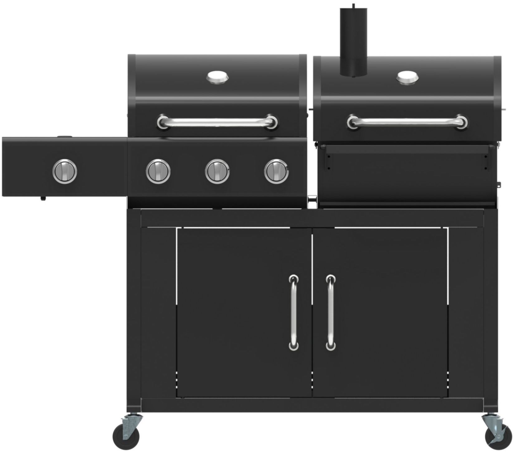 el fuego atlanta gas kohle kombigrill mit 2 thermometern. Black Bedroom Furniture Sets. Home Design Ideas